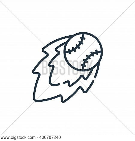 fireball icon isolated on white background from baseball collection. fireball icon thin line outline