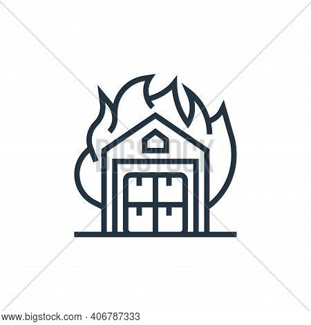 fire icon isolated on white background from business risks collection. fire icon thin line outline l