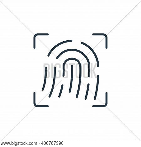 fingerprint icon isolated on white background from internet of things collection. fingerprint icon t
