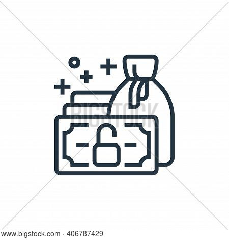 finance icon isolated on white background from business risks collection. finance icon thin line out