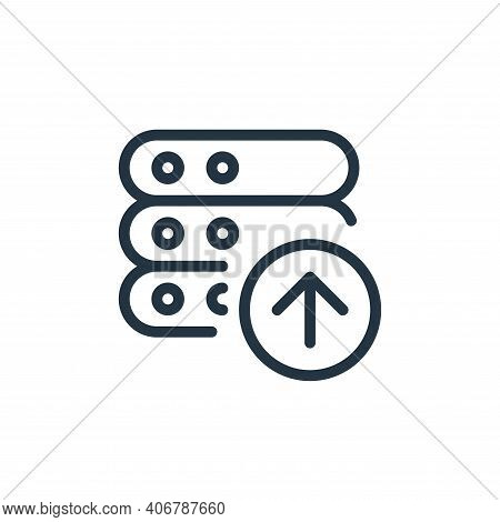 file upload icon isolated on white background from work office server collection. file upload icon t