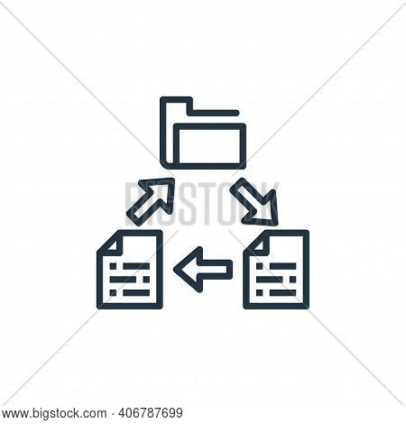 file sharing icon isolated on white background from work from home collection. file sharing icon thi