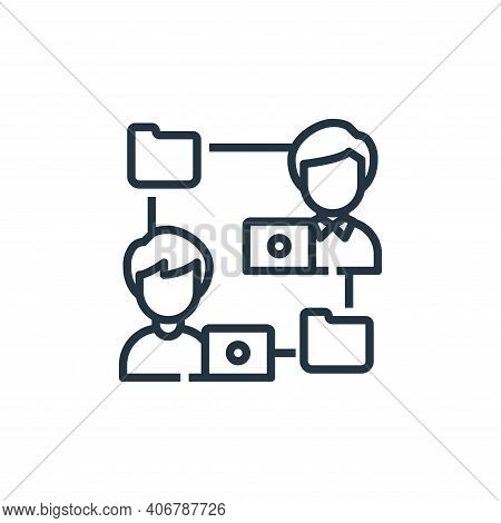 file sharing icon isolated on white background from working from home collection. file sharing icon