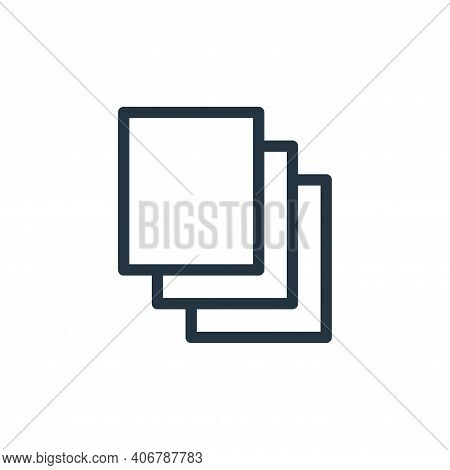 files icon isolated on white background from technology collection. files icon thin line outline lin