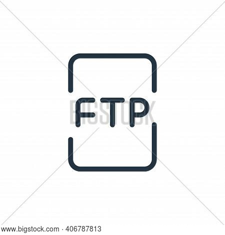 file icon isolated on white background from data transfer collection. file icon thin line outline li