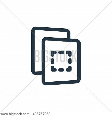 file icon isolated on white background from file and archive collection. file icon thin line outline