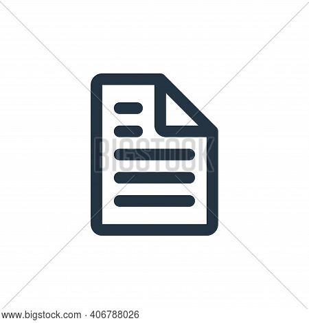 file icon isolated on white background from user interface collection. file icon thin line outline l