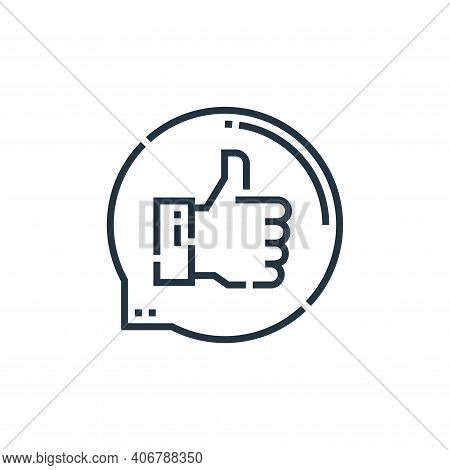 feedback icon isolated on white background from videoblogger collection. feedback icon thin line out
