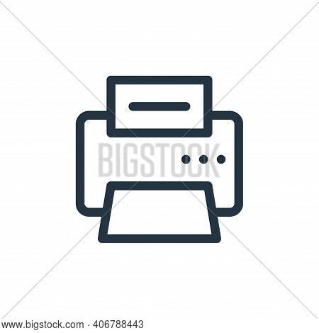 fax machine icon isolated on white background from electronics collection. fax machine icon thin lin