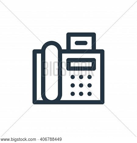 fax icon isolated on white background from communication and media collection. fax icon thin line ou