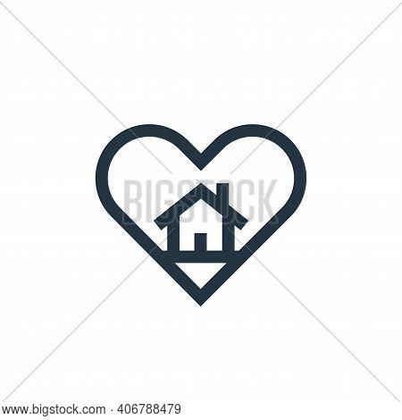 favourite icon isolated on white background from real estate collection. favourite icon thin line ou