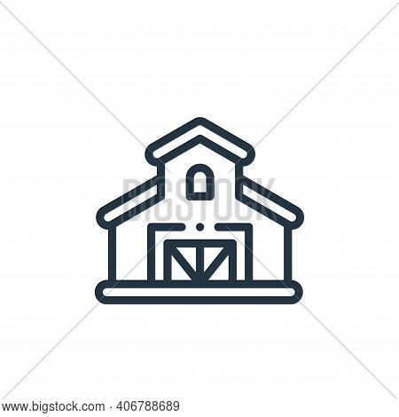 farm icon isolated on white background from holland collection. farm icon thin line outline linear f