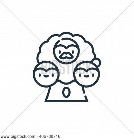 family tree icon isolated on white background from family life collection. family tree icon thin lin