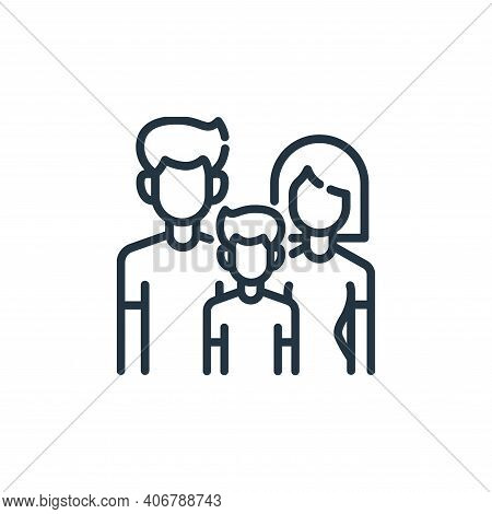 families icon isolated on white background from insurance collection. families icon thin line outlin