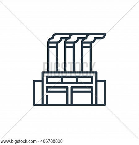 factory icon isolated on white background from management collection. factory icon thin line outline