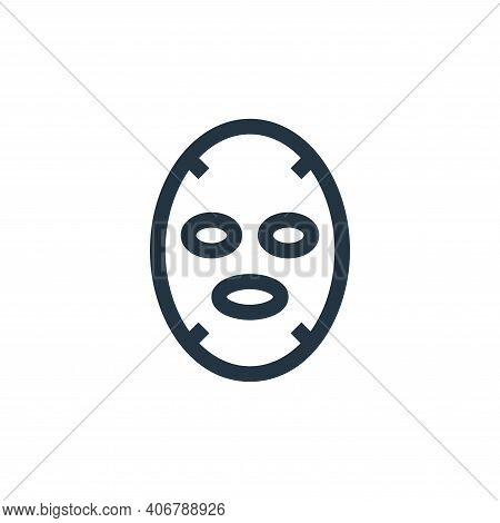 face mask icon isolated on white background from alternative medicine collection. face mask icon thi