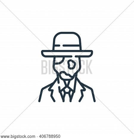 faceless icon isolated on white background from fantastic characters collection. faceless icon thin