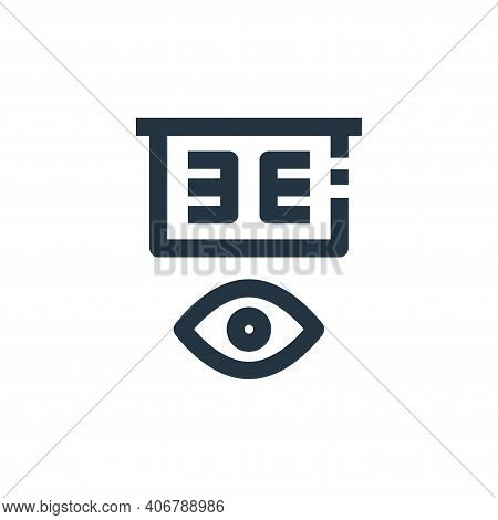 eye test icon isolated on white background from medical collection. eye test icon thin line outline