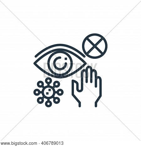 eyes icon isolated on white background from coronavirus collection. eyes icon thin line outline line