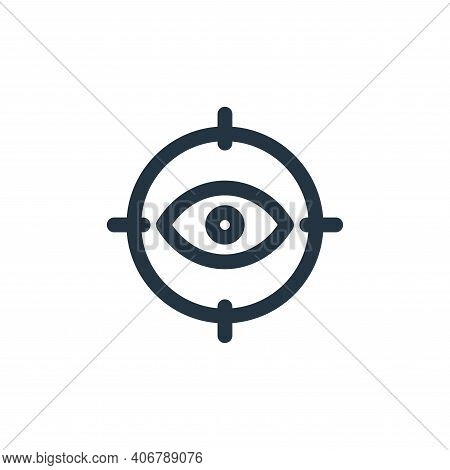 eye icon isolated on white background from web apps seo collection. eye icon thin line outline linea