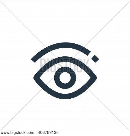 eye icon isolated on white background from medical collection. eye icon thin line outline linear eye