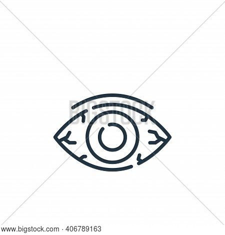 eye icon isolated on white background from allergies collection. eye icon thin line outline linear e