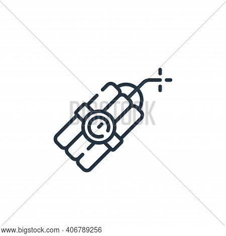 explosive icon isolated on white background from videogame collection. explosive icon thin line outl