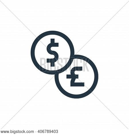 exchange icon isolated on white background from payment collection. exchange icon thin line outline