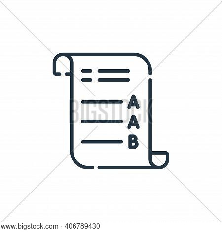 exam icon isolated on white background from academy collection. exam icon thin line outline linear e
