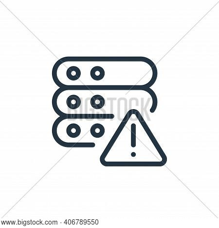 error icon isolated on white background from work office server collection. error icon thin line out