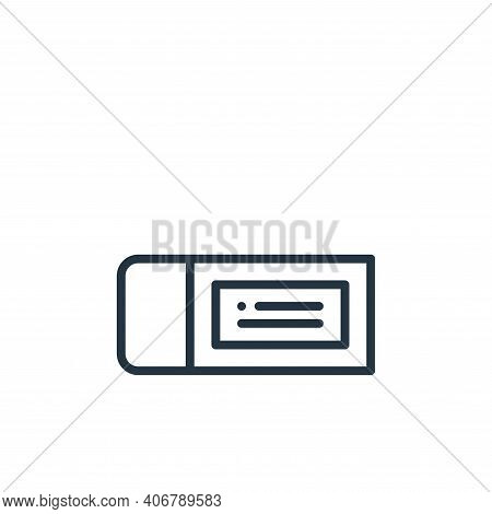 eraser icon isolated on white background from education collection. eraser icon thin line outline li