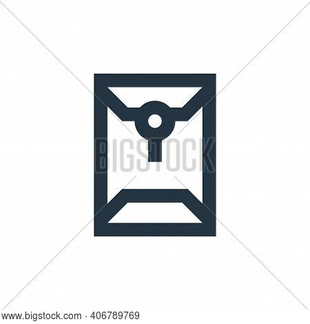 envelope icon isolated on white background from office stationery collection. envelope icon thin lin
