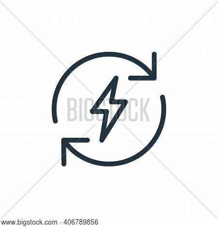energy icon isolated on white background from data transfer collection. energy icon thin line outlin
