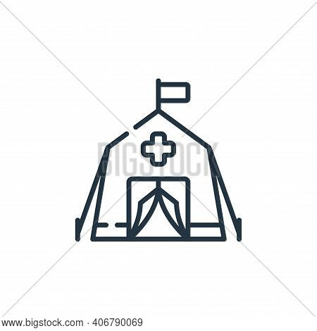 emergency icon isolated on white background from kindness collection. emergency icon thin line outli