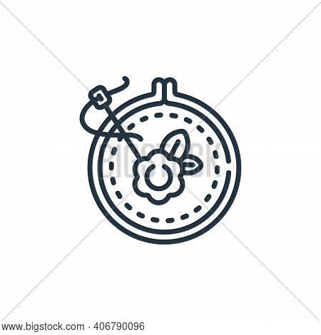 embroidery icon isolated on white background from sewing collection. embroidery icon thin line outli