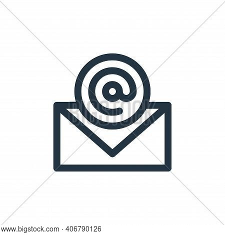 email icon isolated on white background from communication and media collection. email icon thin lin