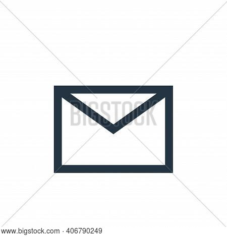 email icon isolated on white background from email collection. email icon thin line outline linear e