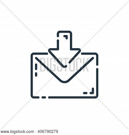 email icon isolated on white background from user interface collection. email icon thin line outline