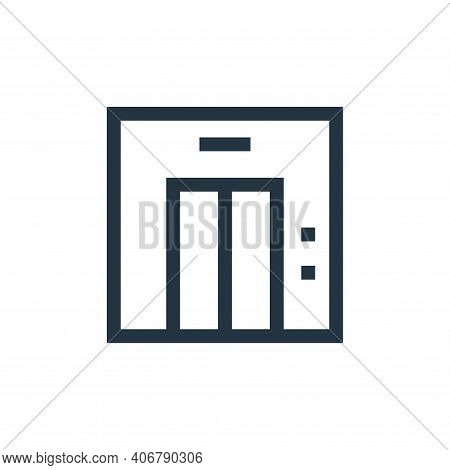 elevator icon isolated on white background from real estate collection. elevator icon thin line outl
