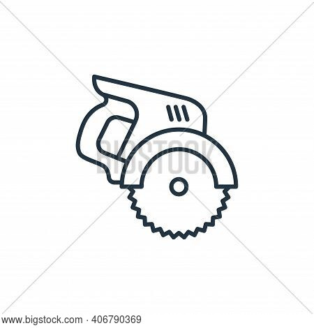electric saw icon isolated on white background from carpentry collection. electric saw icon thin lin