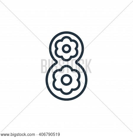 eight icon isolated on white background from womens day collection. eight icon thin line outline lin