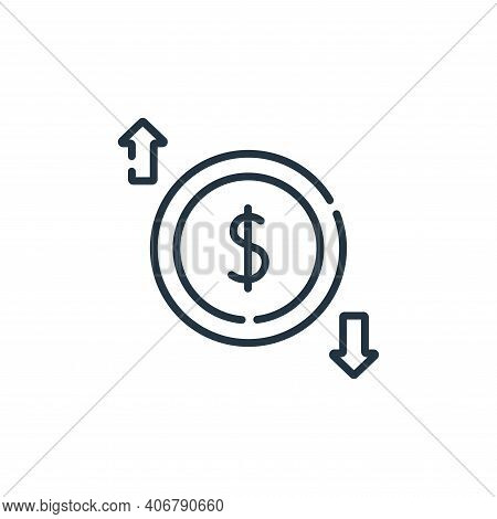 economy icon isolated on white background from academy collection. economy icon thin line outline li