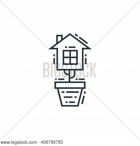 eco house icon isolated on white background from environment and eco collection. eco house icon thin