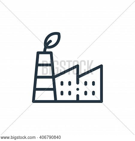 eco factory icon isolated on white background from ecology collection. eco factory icon thin line ou