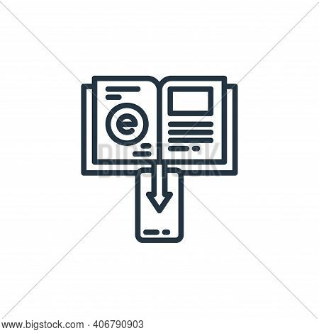 ebook icon isolated on white background from elearning collection. ebook icon thin line outline line
