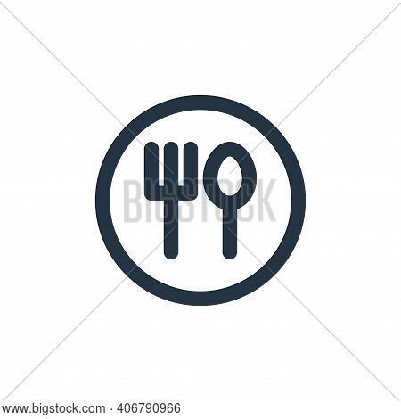 eat icon isolated on white background from holiday collection. eat icon thin line outline linear eat