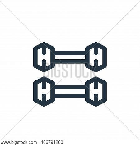 dumbbells icon isolated on white background from pilates collection. dumbbells icon thin line outlin