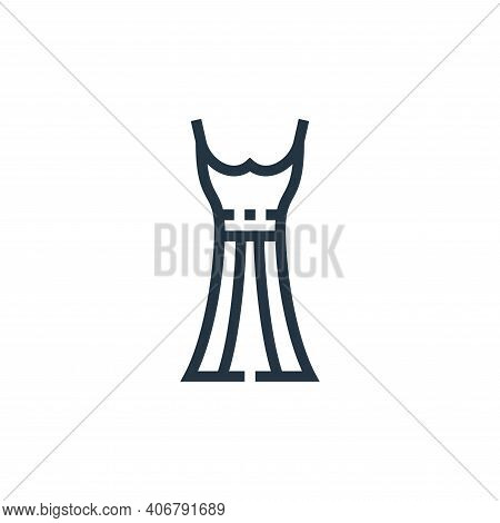 dress icon isolated on white background from clothes and apparel collection. dress icon thin line ou