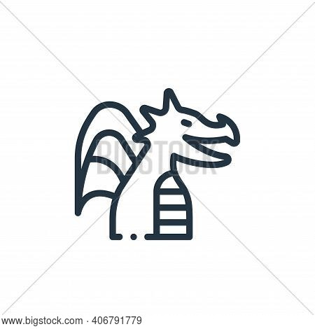 dragon icon isolated on white background from videogame elements collection. dragon icon thin line o