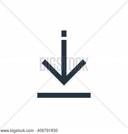download icon isolated on white background from arrows collection. download icon thin line outline l